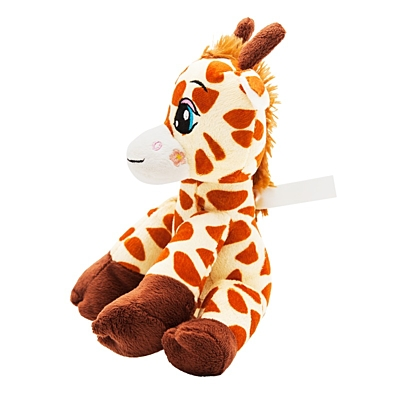 GIRAFFE plush toy,  brown/yellow
