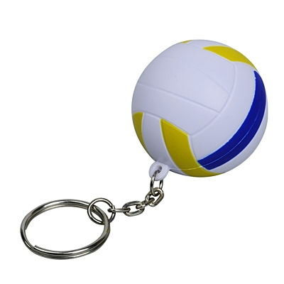 VOLLEY anti-stress toy key ring,  white