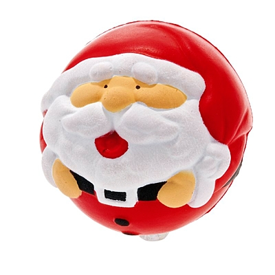 SANTA antistress ball, red/white