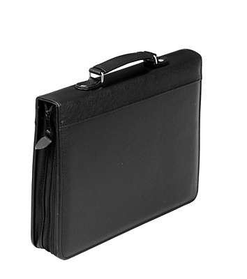 VICENZA document map with zipper,  black