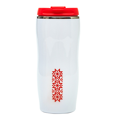 ASTANA 350 ml insulated mug with Xmas motive, red