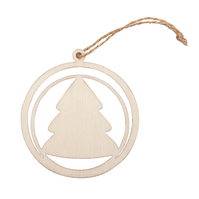 XMAS BUBBLE WITH TREE decoration, beige